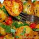 Картофель, запеченный с тмином и чесноком